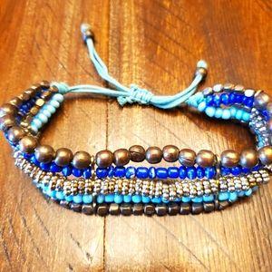 🎉5/$10 5-Tier beaded bracelet